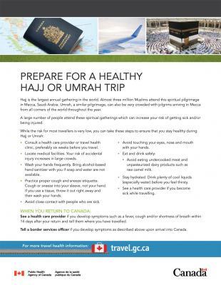 Umrah vaccination leaflet