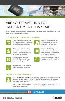 Umrah trip vaccination brochure